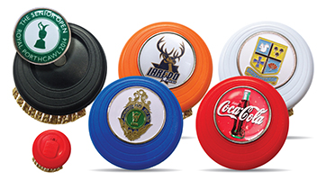 35_14136 Evolve Brush in 5 different colors with Logo Doming on Ballmarker